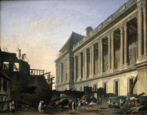 The Clearing of the Louvre colonnade, 1764