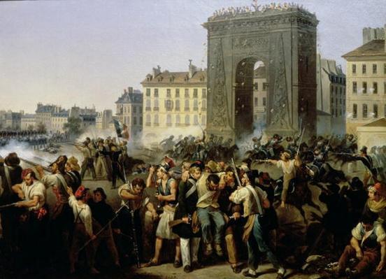 Battle at the Porte Saint-Denis, 28th July 1830