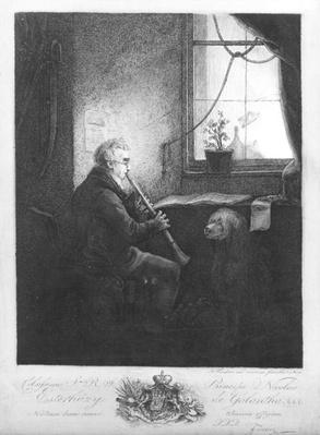 Duke Esterhazy Playing the Clarinet, 1809