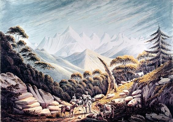 Nepalese Herdsmen in the Himalayas, 1826