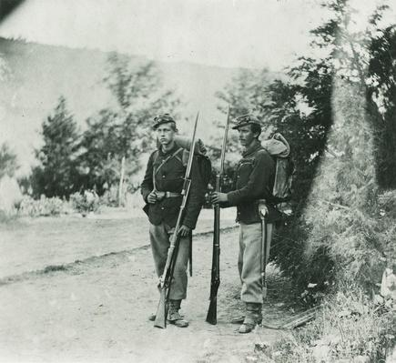 Two Standing Northern Soldiers, 1861-1865 | Ken Burns: The Civil War
