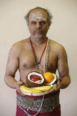 Brahmin priest in Highgate Hill Hindu temple, London | World Religions: Hinduism