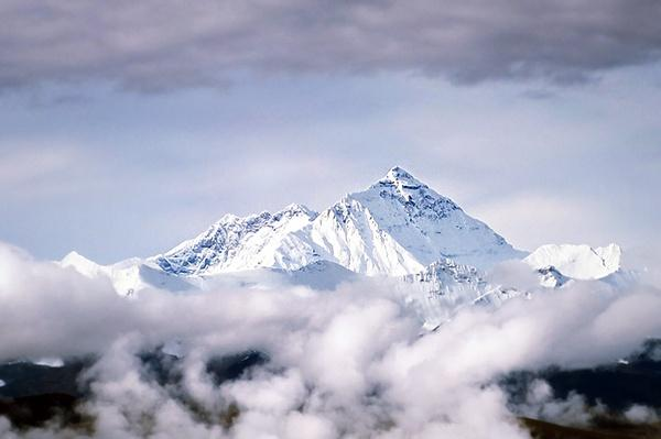 Peak of Mount Everest Above Clouds in Tibet | Wonders of the World