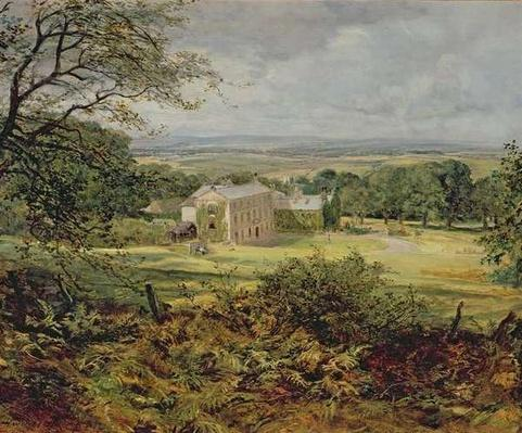 English landscape with a house, 19th century