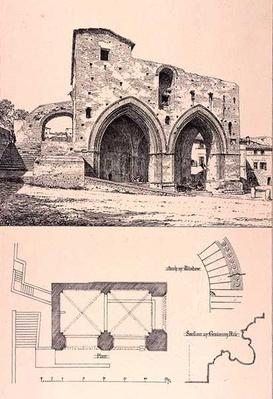 Fonte Branda, Siena, Italy, from 'Examples of the Municipal, Commercial, and Street Architecture of France and Italy from the 12th to the 15th Century', publ. by W.Mackenzie, 1841