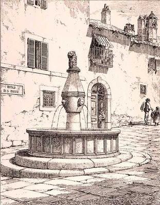 Fountain of the Vicolo di S. Rocco, Viterbo, Italy