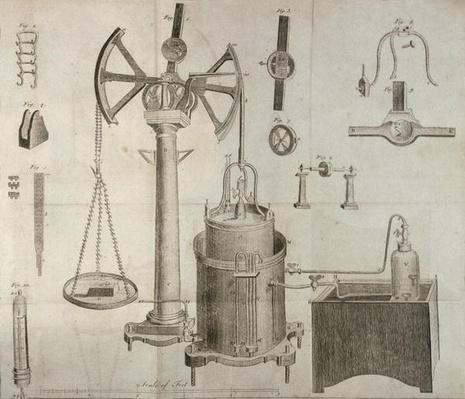 Scientific Equipment, from 'The Elements of Chemistry' by Antoine Laurent de Lavoisier