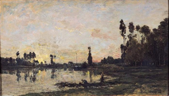 Sunset on the Oise, 1865