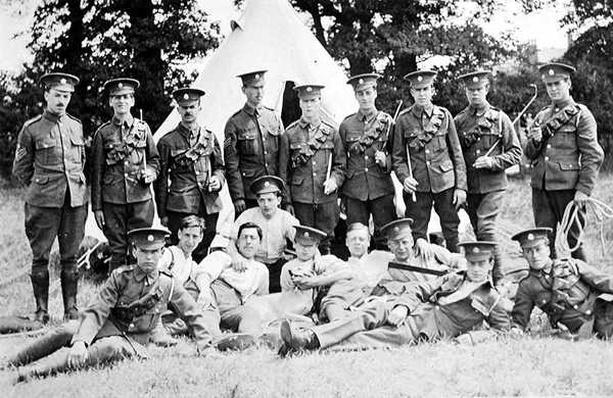 Group portrait of the 'London Mounted Army Service Corp'
