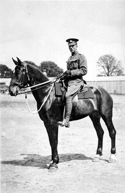 Staff Sergeant Major B.E.G Freeman on Spider, Canterbury 1918