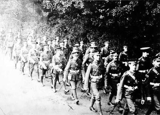 British Troops on the March