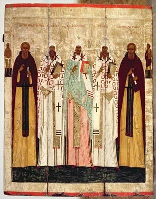 St. Sergius of Radonesh with the Saints of Rostov, late 15th century