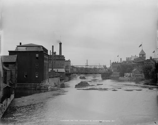 The Chicago & North Western Railway [Between 1880 And 1899] River with Pollution | Industrial Revolution