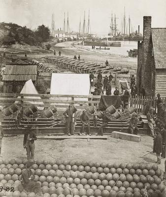 Federal Ordnance At Ship Point, 1861 | Ken Burns: The Civil War