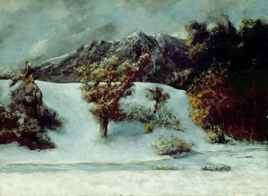 Winter Landscape With The Dents Du Midi, 1876