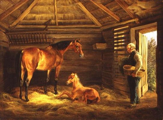 English Mare With Her Foals, 1833
