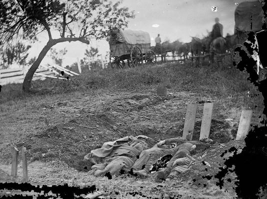Unfinished Confederate Graves, Gettysburg, 1863 | Ken Burns: The Civil War