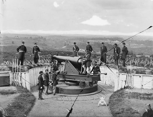 Parrott Gun at Fort Totten, 1865 | Ken Burns: The Civil War