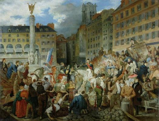 The Duke of Orleans Crossing the Place du Chatelet on 31st July 1830