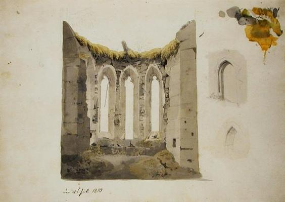 Ruins of a Gothic Choir, 4th July 1810