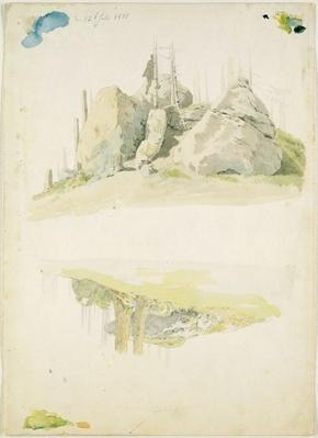 Rock and Tree: Two Studies, 12th July 1810