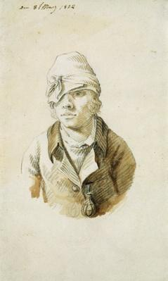 Self Portrait with Cap and Eye Patch, 8th May 1802