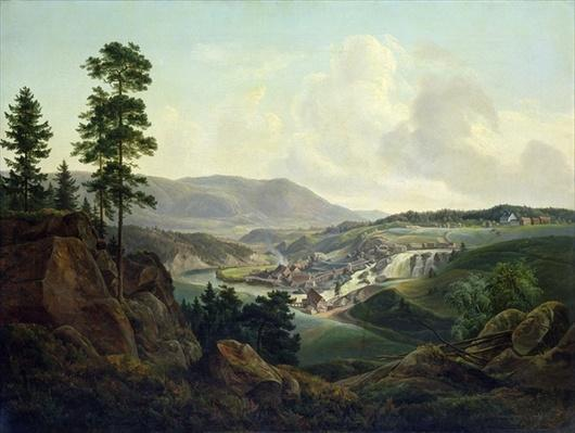 Saw Mill in Norway, 1827