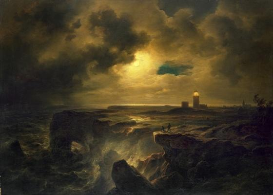 Helgoland in Moonlight, 1851