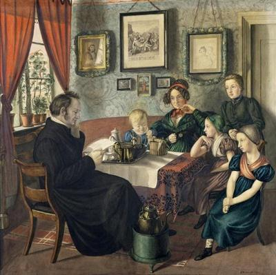 Pastor Johann Wilhelm Rautenberg and his Family, 1833