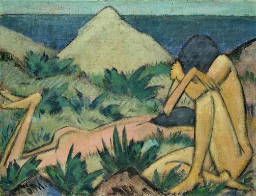 Nudes in Dunes, c.1919-20