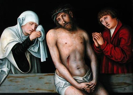 Christ as the Man of Sorrows with the Virgin and St. John