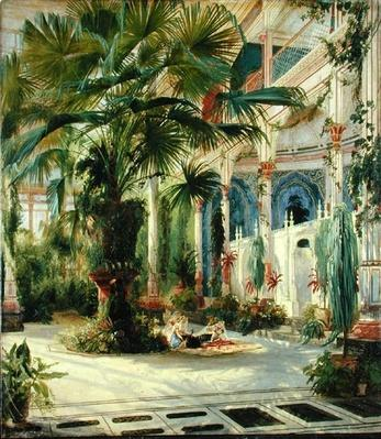 Interior of the Palm House at Potsdam, 1833