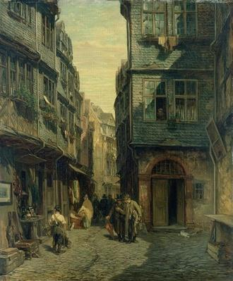 The Jewish Quarter in Frankfurt, 1883