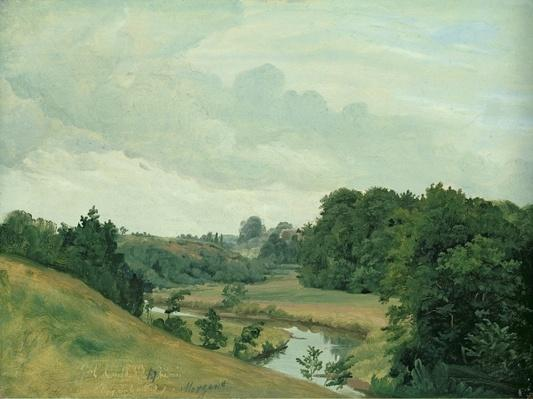 The River Alster at Poppenbuttel in the Morning, 1883