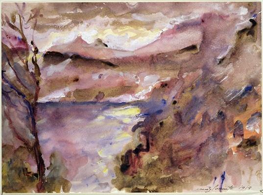 View of Walchen Lake, 1919