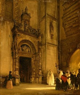Side portal of Como Cathedral, 1850