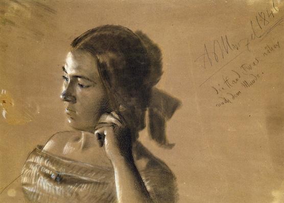 Study for a portrait of Mrs Von Maercker, 1846