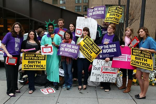 Reproductive Rights Activists Protest Outside Romney DC Fundraiser | U.S. Presidential Elections 2012
