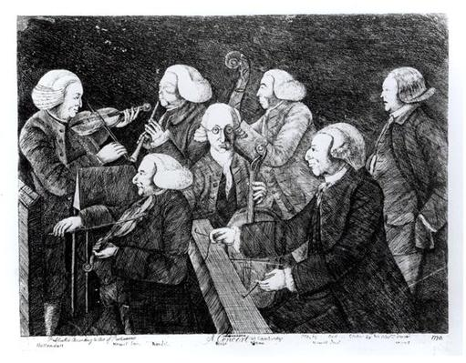 A Concert at Cambridge, 1770
