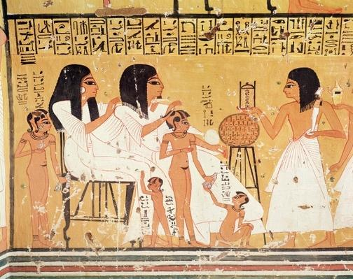 The dead, their family and their servants, from the Tomb of Ankerkhe, Workmen's Tombs, New Kingdom
