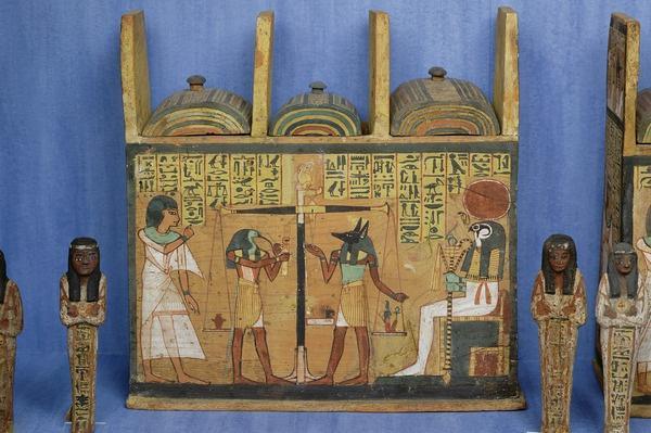 Ushabti casket with a scene of psychostasis, Third Intermediate Period