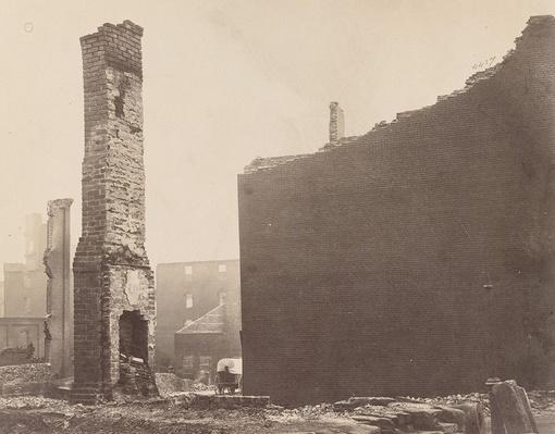 Ruins on Carey Street, 1865 | Ken Burns: The Civil War
