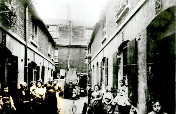 Slum in Victorian London