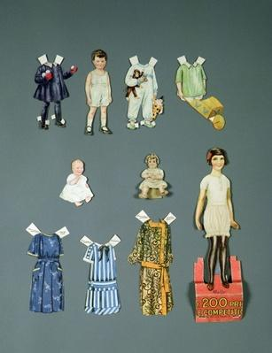 Cut out doll and clothes, late 1920s-early 1930s