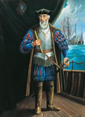 Portrait of Vasco da Gama | Famous Explorers