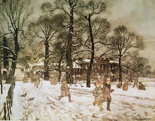 Winter in Kensington Gardens from 'Peter Pan in Kensington Gardens' by J.M. Barrie, 1906