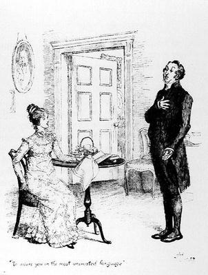 Mr Collins and Elizabeth, from 'Pride and Prejudice' by Jane Austen