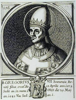 Portrait of Pope Gregory VII