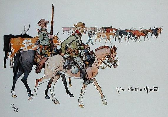 The Cattle Guard, from 'The Leaguer of Ladysmith', 1900