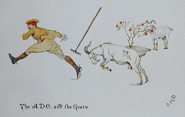 The A.D.C and the Goats, from 'The Leaguer of Ladysmith', 1900